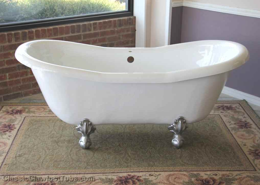68 Acrylic Double Ended Slipper Clawfoot Tub Classic Clawfoot Tub
