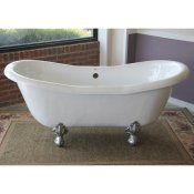 "68"" Acrylic Double Ended Clawfoot Tub"