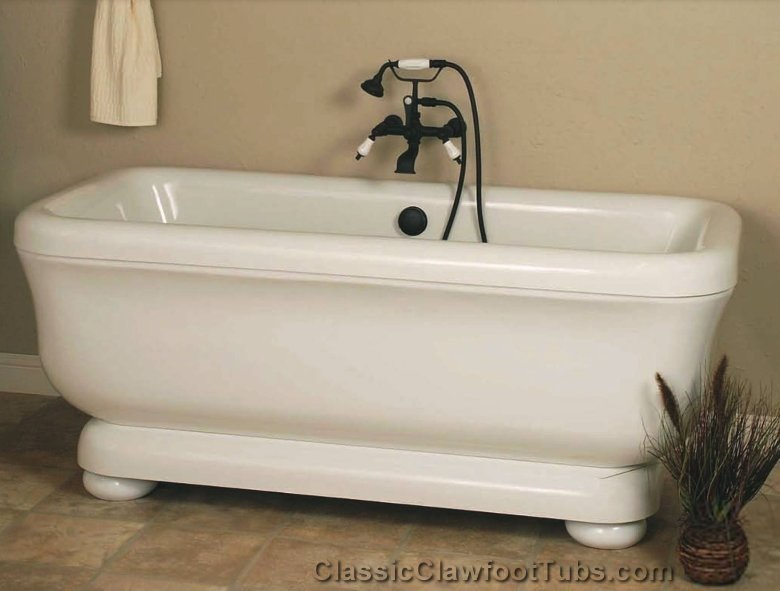 70 Quot Acrylic Double Ended Rectangle Tub Classic Clawfoot Tub