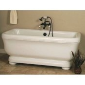 "70"" Acrylic Double Ended Rectangle Tub"