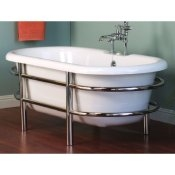 "66"" Acrylic Double Ended Tub w/ Stainless Steel Frame"