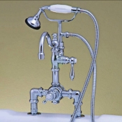 Clawfoot Tub Deckmounted Thermostatic Faucet w/ Handheld Shower