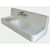 "60"" Farmhouse Drainboard Sink"