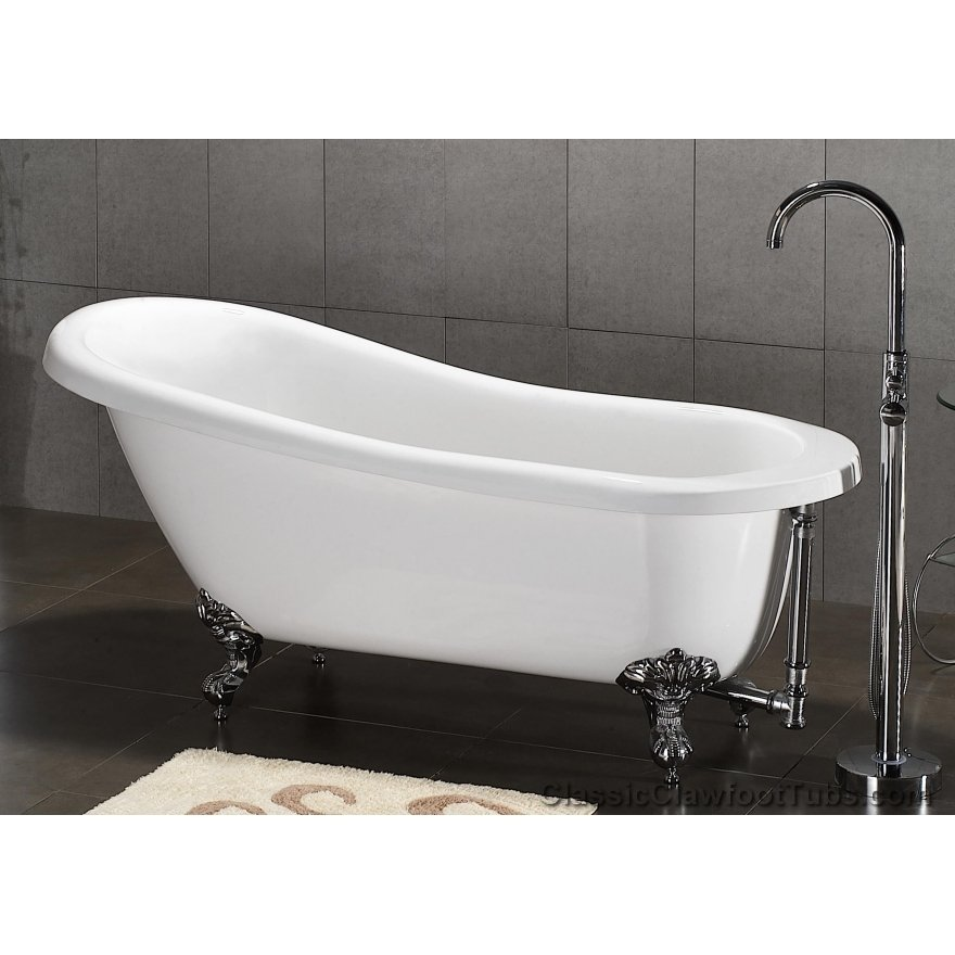 67 acrylic slipper clawfoot tub classic clawfoot tub. Black Bedroom Furniture Sets. Home Design Ideas
