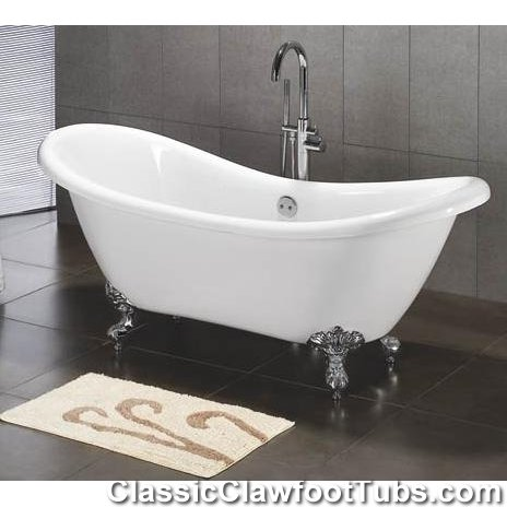 double slipper clawfoot tub acrylic. 69 quot  Acrylic Double Ended Slipper Clawfoot Tub Classic