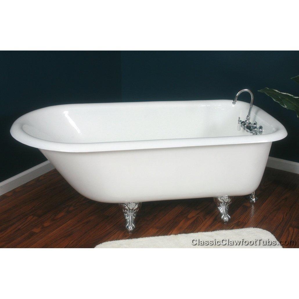 61 rolled rim cast iron clawfoot tub classic clawfoot tub. Black Bedroom Furniture Sets. Home Design Ideas