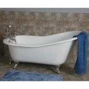 "61"" Cast Iron Slipper Tub w/ Ball & Claw Feet"