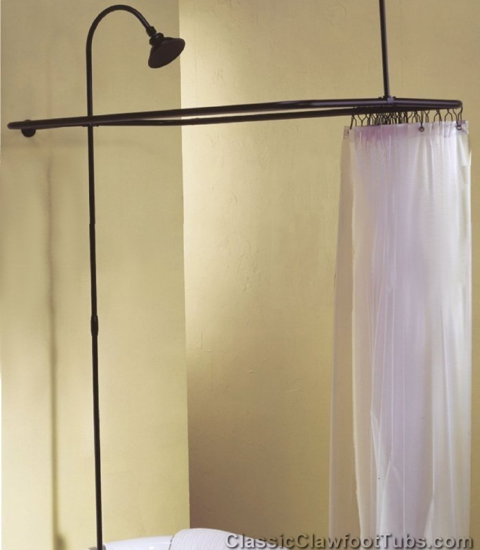 Clawfoot Tub Shower Enclosure Combo No Faucet