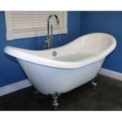 "72"" Acrylic Double Ended Air Jet Slipper Clawfoot Tub"