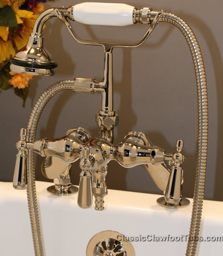 Clawfoot Tub Deckmount Faucet With Hand Held Shower