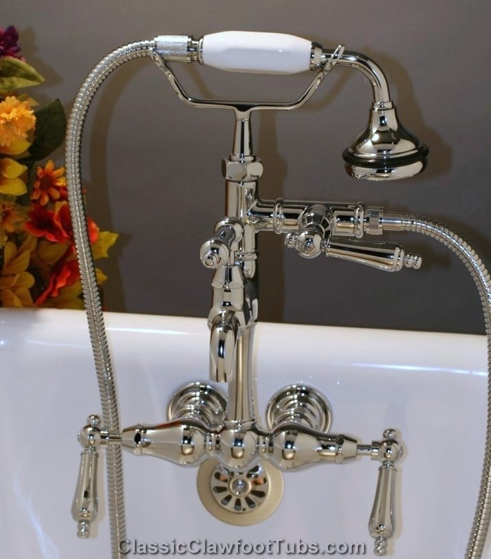 hand held shower for tub faucet. Classic Leg Tub Faucet with Hand Held Shower  Clawfoot
