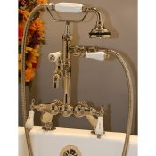 Classic Leg Tub Deckmount Faucet with Hand Held Shower
