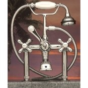 Clawfoot Tub Deckmount British Telephone Faucet w/ Hand-held shower - CAM463-6