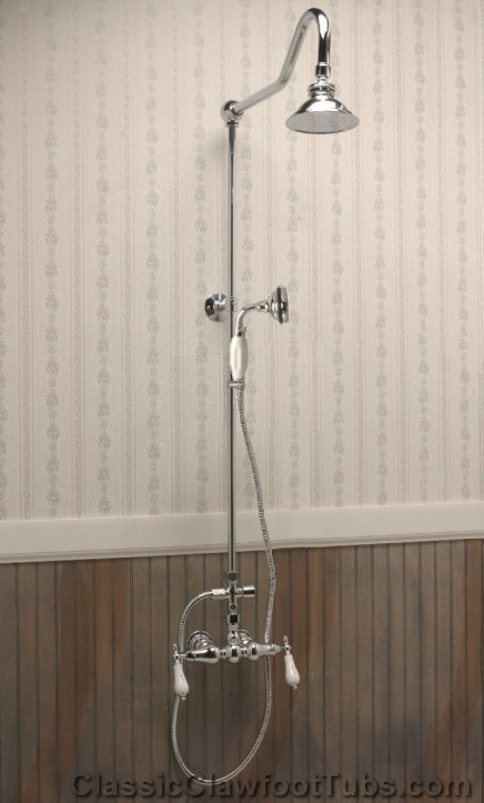Exposed Wall Shower Classic Clawfoot Tub