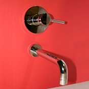 Wall Mounted Bathroom Sink Faucet with Stem Handle - SHQ006