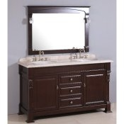 "60"" Traditional Double Sink Vanity Combo"