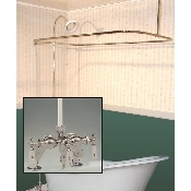 Clawfoot Tub Deckmount Shower Enclosure Combo w/ Small Spout Faucet