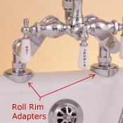 Roll Rim Adapters for Faucet