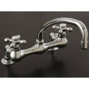 Deckmount Arched Spout Kitchen Faucet- STR-P0826