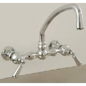 Wall Mount Arched Kitchen Faucet with Lever Handles- STR-P0835