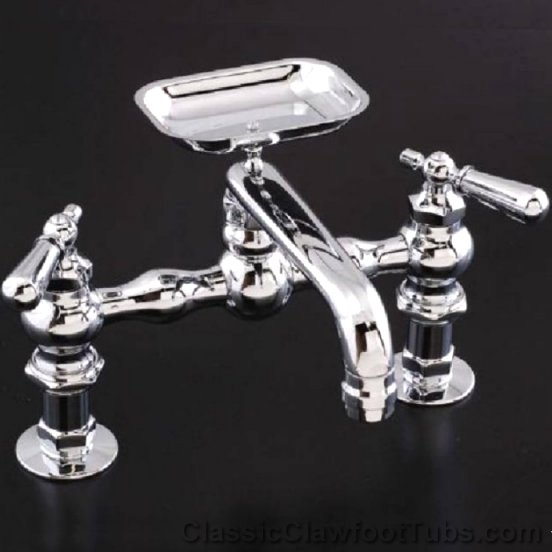 Deck Mounted Kitchen Faucet With Soap Dish