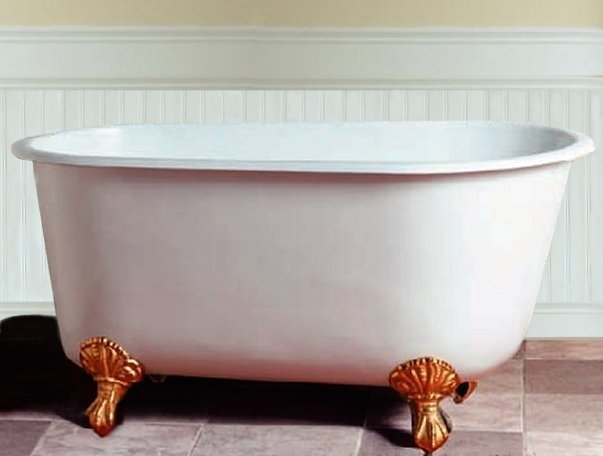 53 5 Cast Iron Swedish Rolled Rim Tub Classic Clawfoot Tub