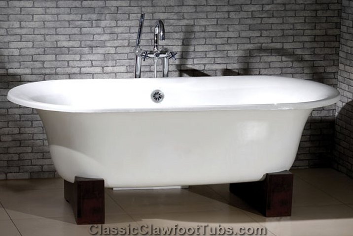 Wooden Cradle Base Classic Clawfoot Tub