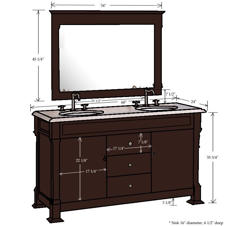 60 Traditional Double Sink Vanity Combo Images Frompo